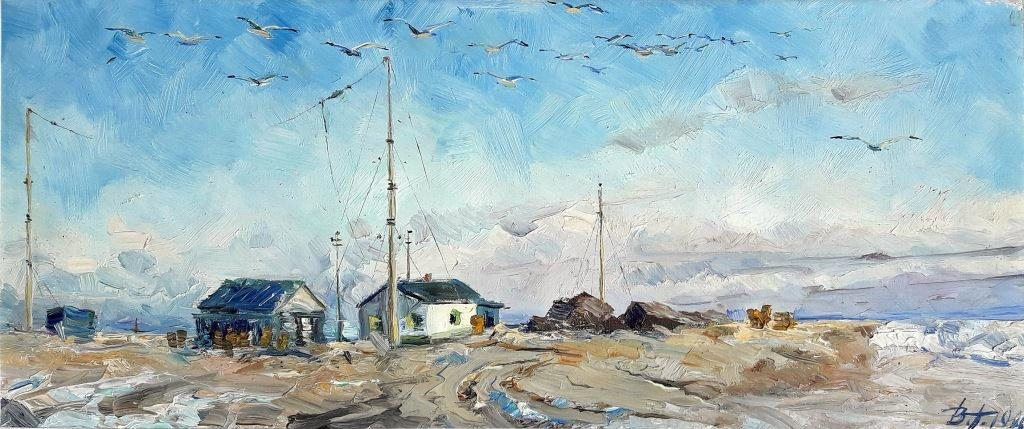 В.Придатко-Долін. Полярна станція «Мис Блоссом». Полотно, масло, 1978