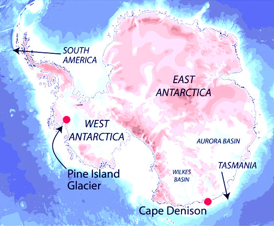 Антарктида мапа