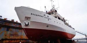 Перший етап ремонту українського науково-дослідного судна завершений