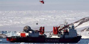 """Китайський криголам """"Сюелун"""" прибув на антарктичну станцію """"Чжуншань"""""""